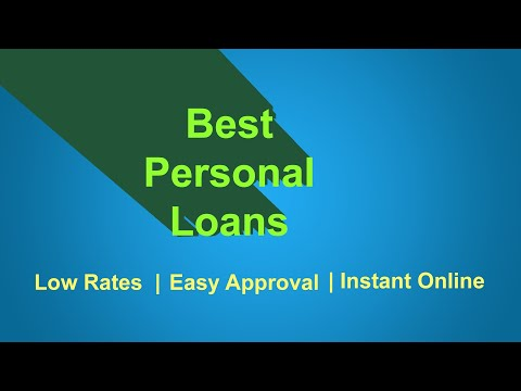 Best Personal Loans - How to get a Personal loan 2018 (Bad Credit OK)