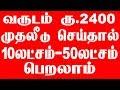 வருடம் ரு.2400 முதலீடு சொய்தால் 10 லட்சம் - 50 லட்சம் பெறலாம் | LIC Policy