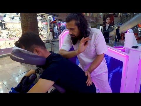 MASSAGE THERAPHY ON CHAIR  (No Talking Turkish Asmr Head & Back Massage) thumbnail