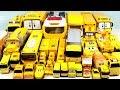 노란색 모두 모여라 총출동!!타요 로보카폴리 로봇트레인 슈퍼윙스 맥퀸 시내버스 스쿨버스