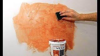 Как покрасить водоэмульсионной краской декоративную штукатурку