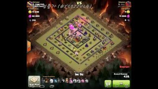 AQ Walk with Laloon | TH9 vs TH10 with Infernos | 9홀의 10홀 완파 (2/5)