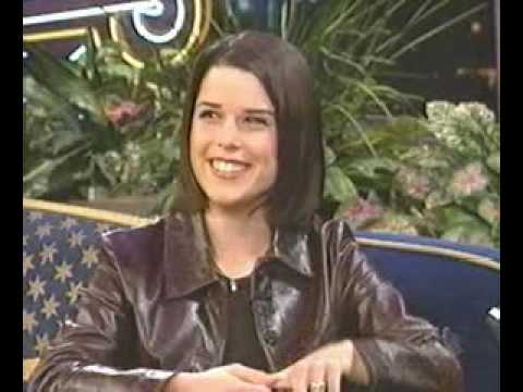 neve campbell talking about kissing a woman in Wild Things on National television