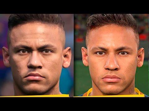 PES 2017 vs PES 2016 BARCELONA FACE COMPARISON