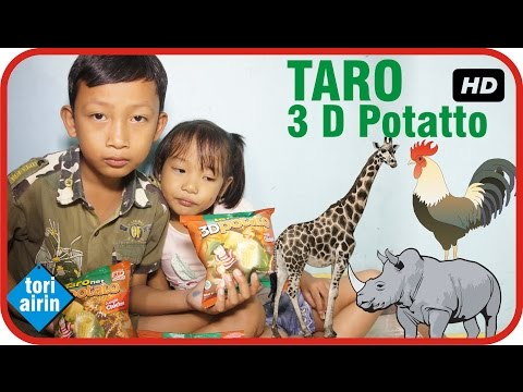 Unboxing Taro 3D Potato Berhadiah Aneka Figur Binatang Mainan Anak - Snack Makanan Anak  Tori Airin