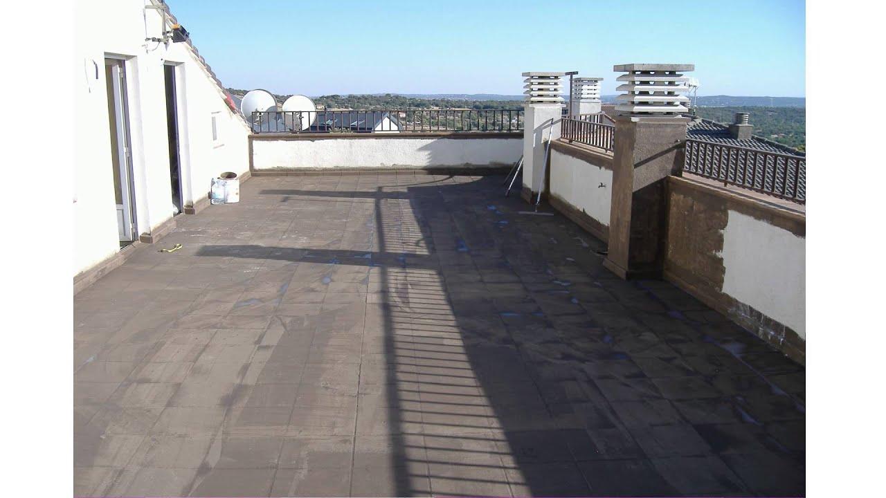 Pintura exterior tratamiento en suelo de terrazas 081115 - Suelos de caucho para exteriores ...