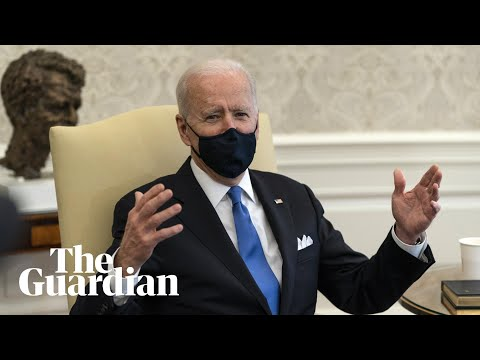 Joe Biden accuses Republican governors of 'neanderthal thinking' for lifting mask mandates