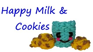 Happy Milk and Cookies Tutorial by feelinspiffy (Rainbow Loom)