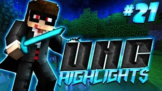 FIRE ASPECT II DIAMOND SWORD - Minecraft UHC Highlights #21 (Huahwi Lights)
