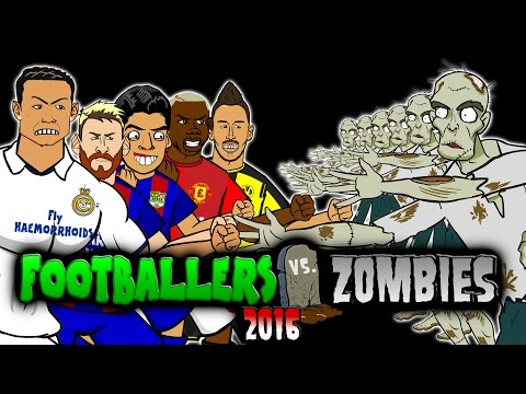 Thumbnail: Footballers vs Zombies -2016! HALLOWEEN SPECIAL!(MSN! CR7! Muller! Aubameyang! Pogba! Costa Parody)