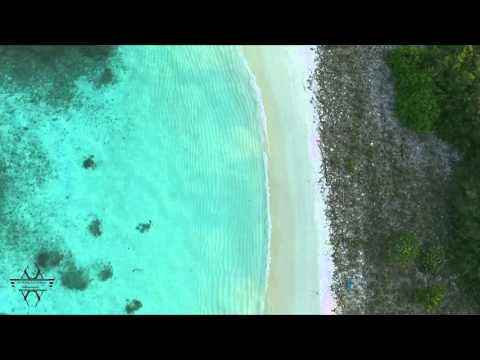 beach aerial view tropical island in maldives