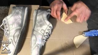 Стерлась подошва на пятке кроссовок. Ремонт обуви своими руками.(Из-за походки всегда стирается это место на обуви - уже выработал свой способ продления жизни любимой обуви), 2015-09-13T15:47:35.000Z)