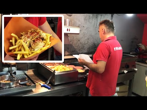 In Macedonia the fries go INSIDE the burger