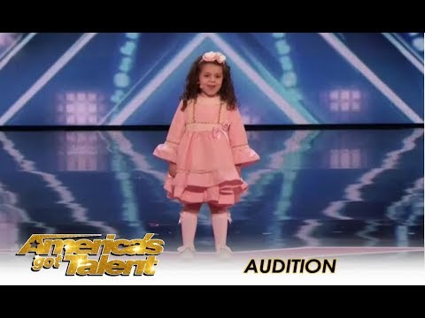 Sophie Fatu: The CUTEST 5-Year-Old Audition Ever! | America's Got Talent 2018