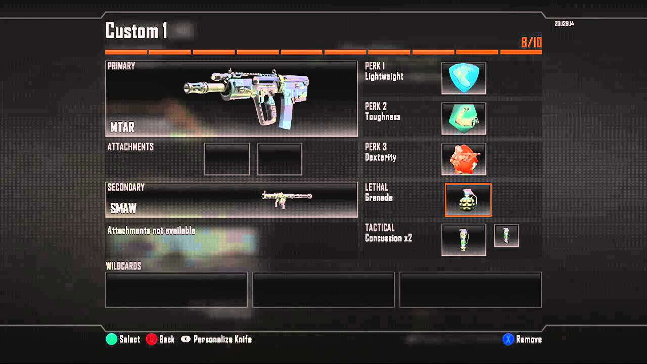 Call Of Duty Black Ops 2 All Guns Perks Scorestreaks Wildcards