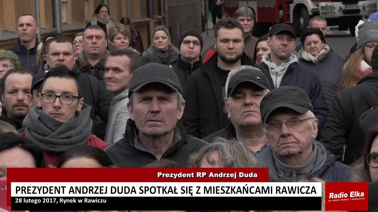 Prezydent Andrzej Duda na Rynku w Rawiczu - YouTube