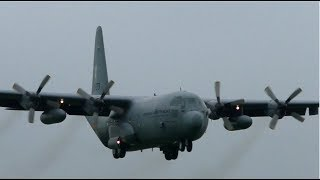 Dutch Air Force Lockheed C-130H G-273 Landing at Cambridge Airport
