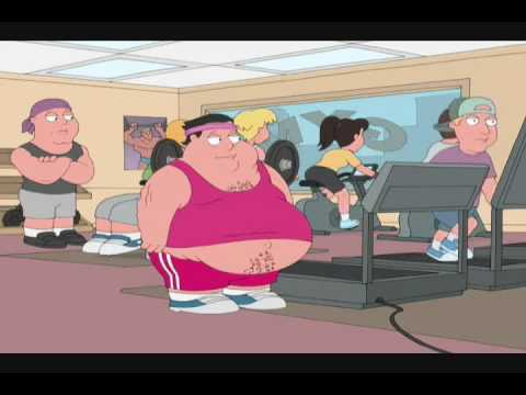 Image result for fat person working out