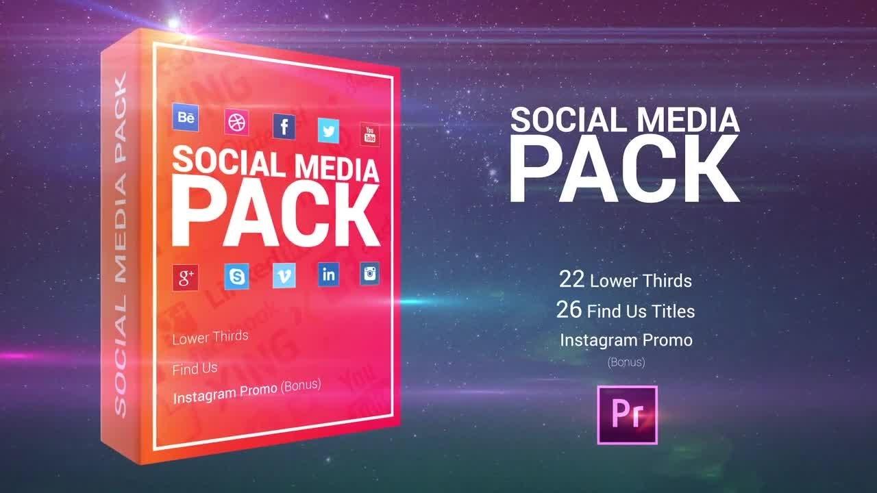 Social media pack premiere pro templates youtube for Free premiere pro templates