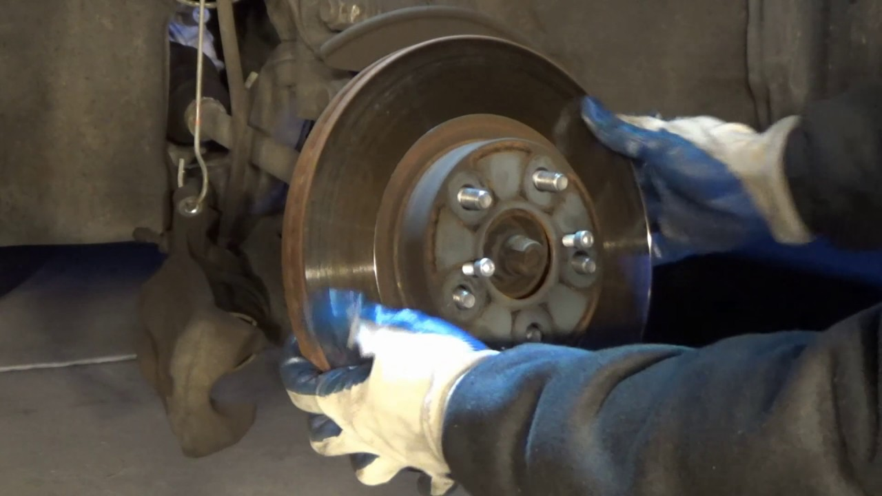 Diy change brake pads and rotor for toyota corolla 2009 2013 youtube