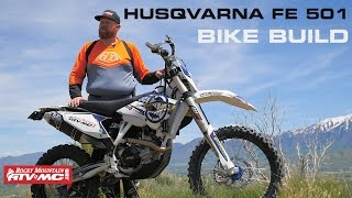 husqvarna fe 501 bike build