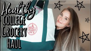 healthy college grocery haul (vegan) | trader joe