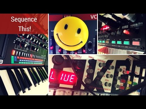 Sequence This! - EMX2, Volca FM, Volca Sample, Boutiques-JU-06/JX-03/JP-08 +