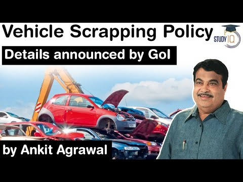 Vehicle Scrappage Policy of India - Government announces details of new policy #UPSC #IAS