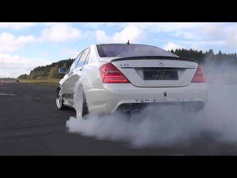 Mercedes-Benz S63 AMG Burnout, Revs, Accelerations!