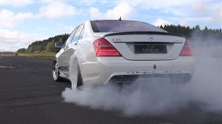 Mercedes-Benz S63 AMG Burnout, Revs, Accelerations!(This video features a Mercedes-Benz S63 AMG (W221) 'Carbon Look' edition customized by TIP-Exclusive. This 525HP S63 AMG doing a nice burnout, ..., 2015-11-03T11:00:01.000Z)