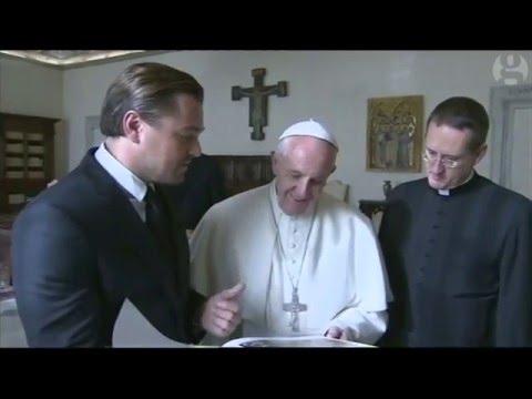 Leonardo DiCaprio meets the Pope