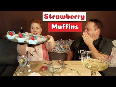 Strawberry Muffins // Vegan