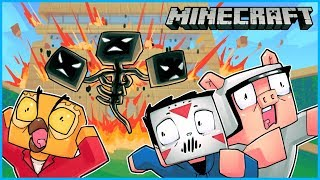 we spawned the wither boss and it destroyed nogla's house... Minecraft ep 9