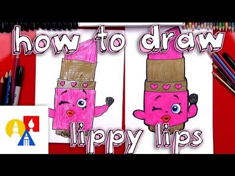 How To Draw Lippy Lips Shopkins