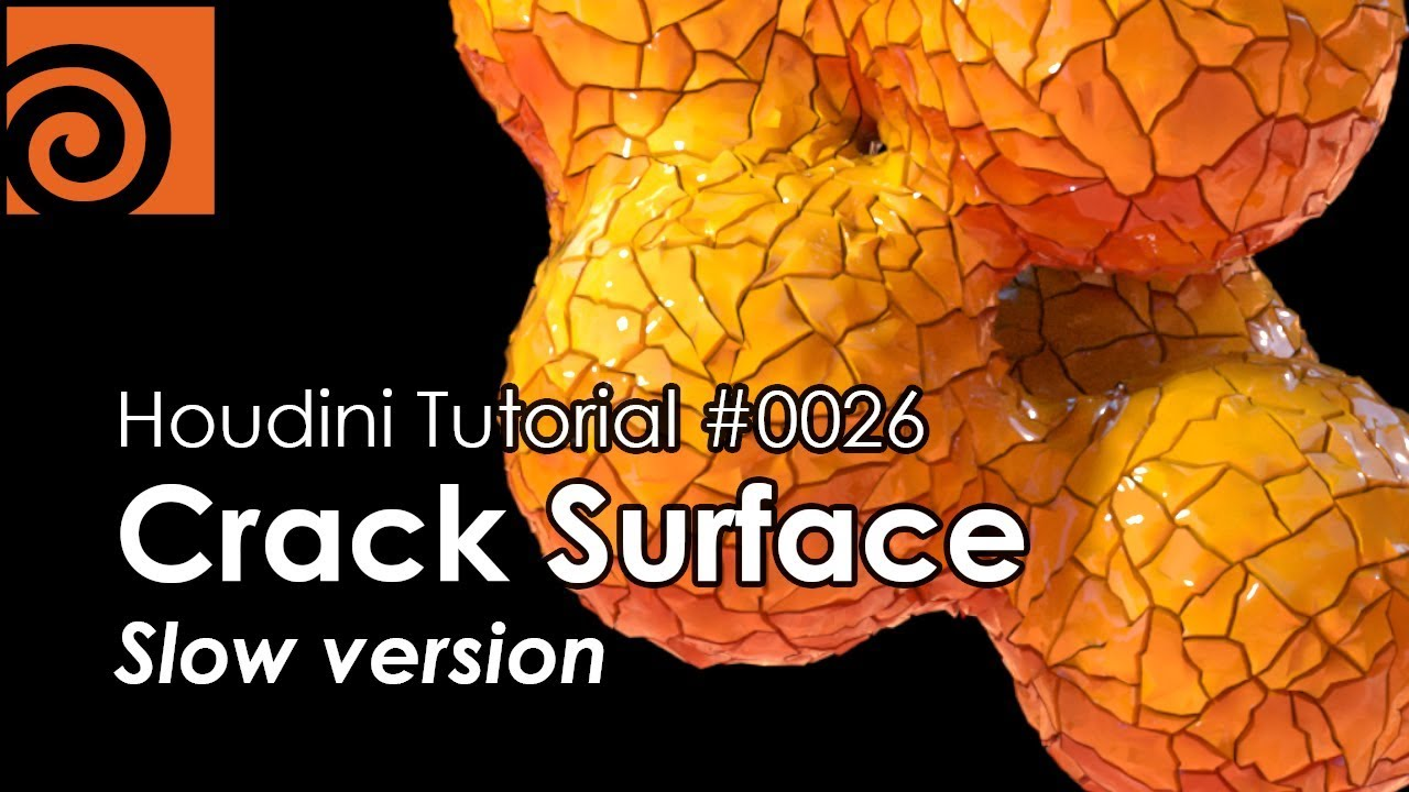 [Houdini Tutorial] 0026 Crack Surface (Slow version)