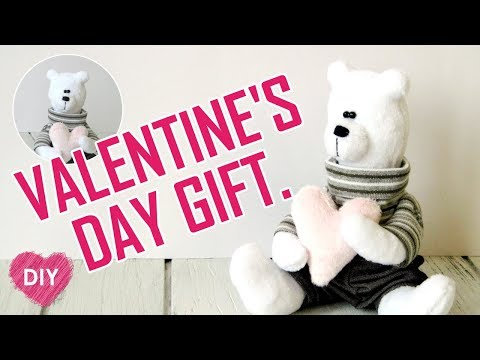 DIY. ❤️ How to sew a bear with a heart. Valentine's Day Gift. ❤️