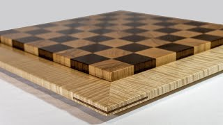 How I made two Regulation Size End Grain Chess Boards
