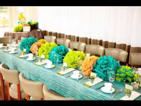 DIY cheap baby shower centerpiece decorations - YouTube