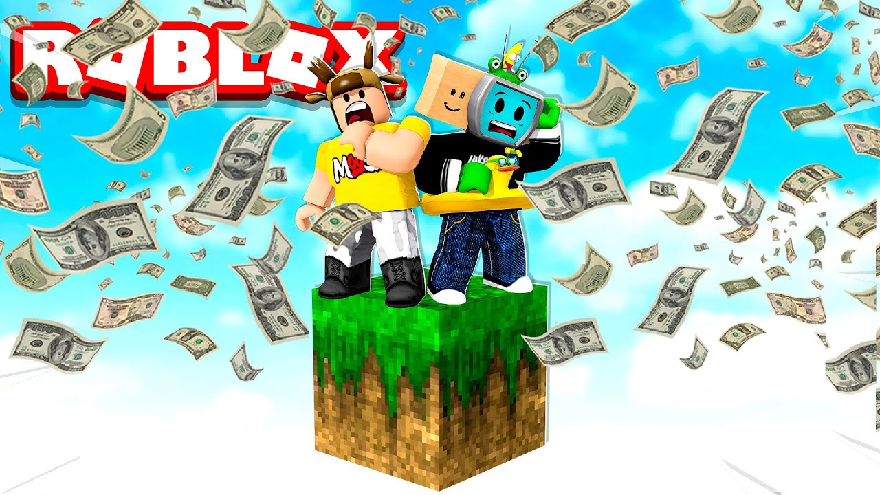 Making an INFINITE CASH Generator on ROBLOX SKYBLOCK with UnspeakableGaming!