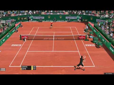 Goffin - Djokovic   Monte-Carlo Rolex Masters 2017   Tennis Elbow 2013 Gameplay