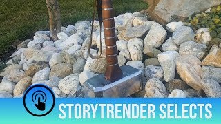 Guy makes incredible replica of Thor's Hammer from scratch