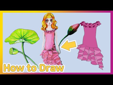 DIY Handmade Paper Doll Dress Party for girls 종이인형 옷 패션 그리기