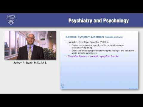 Somatic Symptom Disorders Part I: New Terminology for New Concepts