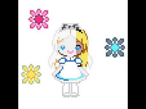 Pixel Art Alice Au Pays Des Merveilles Youtube