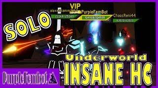 SOLO UnderWorld Insane HC (Roblox Dungeon Quest)