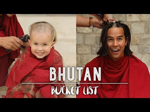 SHAVING OUR HAIR with the Monks of Bhutan!!