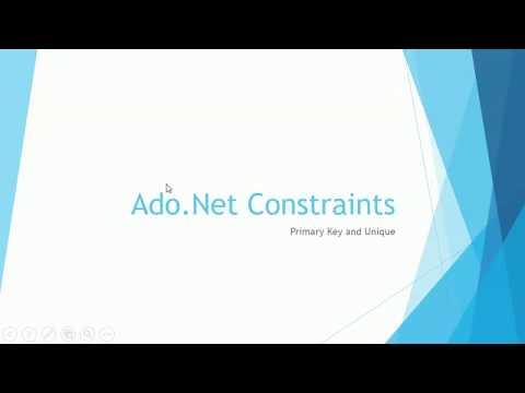 Ado Net 01 Constraints PrimaryKey Unique