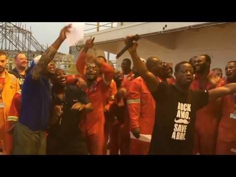 Xmas Carols Offshore - Kwame Nkrumah FPSO Ghana - having fun