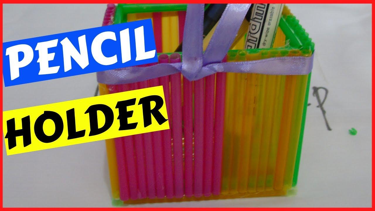 Cara Membuat Tempat Pensil Dari Sedotan Plastik Kerajinan Tangan