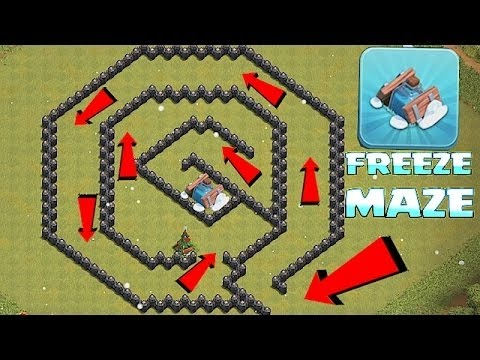 YOU WONT BEAT THIS!!! TH8 FREEZE MAZEClash Of Clans New Trap!!